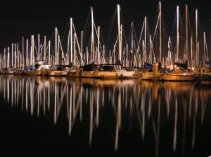 boatsSBMarina_night