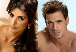 Head shots of Penelope Cruz and William Levy
