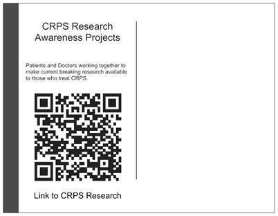 Back of postcard: QR code linking to the article mentioned on front.