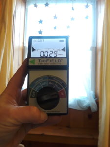 TriField Meter showing RF reading of .029